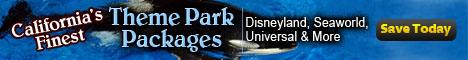 West Coast California Finest Theme Park Packages Disneyland, Seaworld, Universal & More