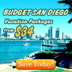 Budget San Diego Vacation Packages from $34