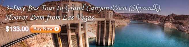 3-Day Bus Tour to Grand Canyon West (Skywalk), Hoover Dam from Las Vegas