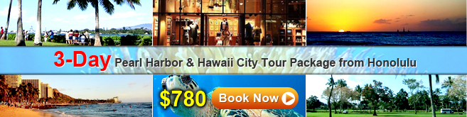 3-day Pearl Harbor & Hawaii City Tour Package from Honolulu