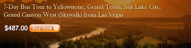 7-Day Bus Tour to Yellowstone, Grand Teton, Salt Lake City, Grand Canyon West (Skywalk) from Las Vegas