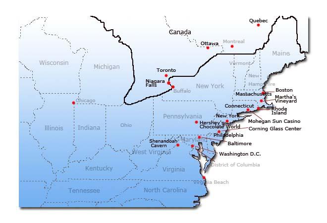 Map Of Us East Coast