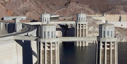 Hoover Dam is one of the most well known examples of man's ability to harness nature for the benefit of providing electricity and water to one of the hottest driest places in the United States.