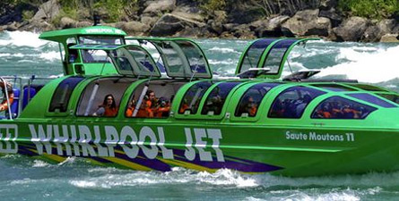 Go on whirlpool jet tour through Niagara Falls and see unprecedented views of the Niagara Gorge, the power plants, and the Whirlpool.